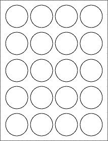 1 Inch Circle Label Template 1 75 1 3 4 Inch Round Labels Ol914 1 75 Circle Circle Template Circle Labels Printable Label Templates
