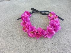 Purple Floral Headband/ Flower Crown. Coachella or by DevineBlooms, $13.00