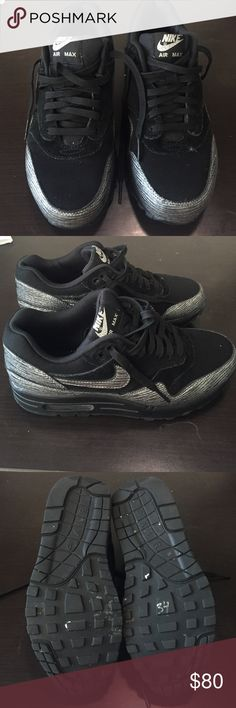 Nike Air Max 1 PRM Metallic Silver Like New. Nike Air Max 1 PRM Metallic Silver. Size 5.5. Box not included. Nike Shoes Athletic Shoes