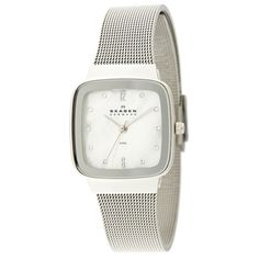 Skagen Women's Mesh Strap Mother of Pearl Dial Watch | Overstock™ Shopping - Big Discounts on Skagen Skagen Women's Watches