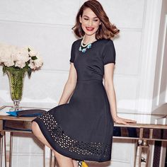 Simple and elegant, this Signature Collection Little Black Dress is a timeless classic that never goes out of style. From desktops to dinners, from workwear to weekend soirees, from catwalk to cocktails, every woman needs this versatile silhouette hanging in her closet. With the right accessories, you can transform the look for any occasion and for every season.Introducing Signature Collection:Effortless style that's totally wearable. Pieces that flatter your shape and fit in comfortab...