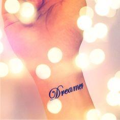 2pcs DREAMER tattoo - InknArt Temporary Tattoo - pack tattoo quote wrist ankle body sticker anchor fake love bird tattoo on Etsy, $3.99