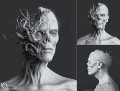 Maze Runner: The Death Cure Concept Art by Ken Barthelmey Dark Creatures, Creatures Of The Night, Weird Creatures, Zombie Monster, Monster Art, Dark Fantasy Art, Dark Art, Maze Runner Death Cure, Apocalypse Art