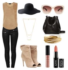 """""""leather in summer"""" by kyalouise on Polyvore"""