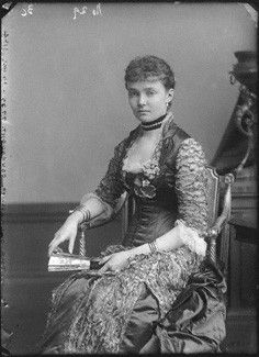 Wife of Prince Arthur (Arthur William Patrick Albert) (1850-1942), Duke of Connaught & Strathearn & Child of Prince Frederick Charles of Prussia (1828–1885) & Princess Maria Anna of Anhalt-Dessau (1837-1906). Princess Louise Margaret of Prussia (Louise Margaret Alexandra Victoria Agnes) (1860–1917) by Alexander Bassano, 1880s.
