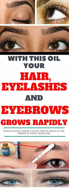 With This Oil Your Hair, Eyelashes And Eyebrows Grows Rapidly!_ Tips and tricks Best Beauty Tips, Beauty Hacks, Beauty Secrets, Beauty Ideas, How To Grow Eyelashes, Thick Eyebrows, Eyebrows Grow, Eye Brows, Thick Lashes