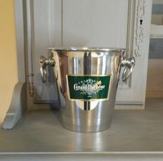 Your place to buy and sell all things handmade Champagne Ice Bucket, Champagne Buckets, Vintage Champagne, Baby Christening, Aluminum Metal, Bottle Holders, Rustic Feel, Pin Image, French Vintage