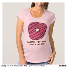 Eating for Two Pink Donut Baby Maternity Tee