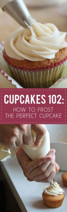 How to Frost the Perfect Cupcake | Frost cupcakes like a pro with these easy-to-follow frosting tips and tricks for perfect cupcakes every time!