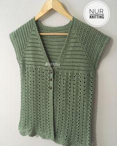 Diy Crafts - outfits,vestknitting-Women Knit Vest 2020 - How do you start a knit stitch? Crochet Bolero Pattern, Gilet Crochet, Crochet Mittens, Crochet Jacket, Vest Pattern, Crochet Stitches Patterns, Crochet Blouse, Knit Vest, Cotton Crochet