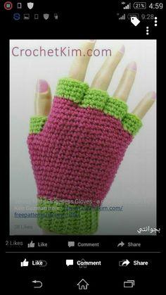 Jersey Mitts for Men Free Crochet Pattern - CrochetKim™ Diy Finger Knitting, Finger Crochet, Crochet Fingerless Gloves Free Pattern, Fingerless Mitts, Crochet Crafts, Crochet Projects, All Free Crochet, Crocs, Crochet Patterns