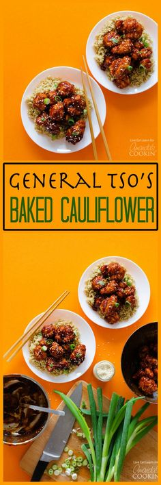 Craving takeout but trying to eat healthier? With absolutely delicious sauce and panko-crusted cauliflower, this General Tso's Baked Cauliflower recipe is a delicious take on takeout!