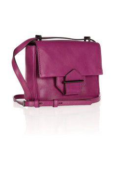 Reed Krakoffstandard mini leather shoulder bag in fuchsia