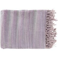 Surya Tanga Throw - TGN7003 - Mauve, Lavender, Gray, Lavender