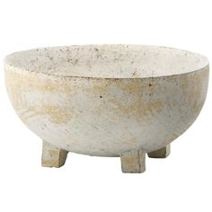 "Paul Philp - Ceramic Round Footed Bowl  10""d x 5""h"