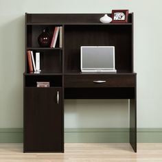 Computer Desk With Hutch Office Home Workstation Wood Student Table Furniture #Sauder #Modern