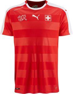 Camisas da Suíça 2016 Eurocopa Puma frente