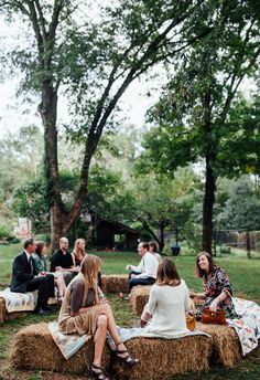 Yes to hay bales for reception seating // Kathryn Kimmel Photography                                                                                                                                                     More