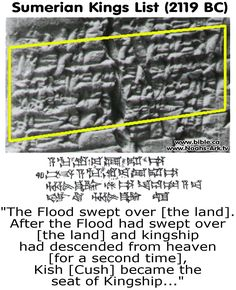 The flood listed in history