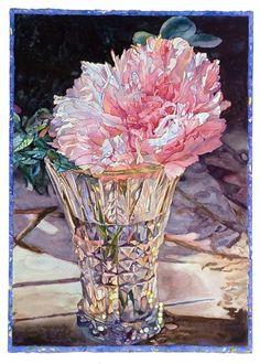 Joseph Raffael, peony, watercolor