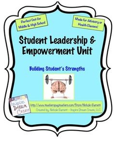 Need a Student Leadership/Empowerment Unit?  SEARCH no further!  This is a complete unit with lesson plans and student worksheets.  Also included are mindfulness lessons!  Great way to teach students to be present, relaxed and less stressed.