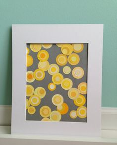 Upcycled Yellow Paint Chip Art