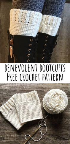 Benevolent Boot Cuffs Free Crochet Pattern – DandyLemon This is a v. Benevolent Boot Cuffs Free Crochet Pattern – DandyLemon This is a very simple pattern Crochet Boots, Crochet Mittens, Free Crochet, Knit Crochet, Irish Crochet, Crochet Slippers, Crochet Cardigan, Learn Crochet, Crochet Cape