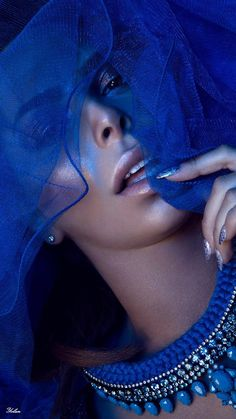 "anbenna: ""Santorini necklace Don Photographer "" Blue Moon Cafe, Bleu Indigo, Blue V, Dark Blue, Royal Blue, Blue Life, Color Azul, Shades Of Blue, 50 Shades"