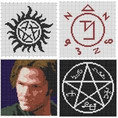 Keep your home safe with these Supernatural knit, crochet and cross stitch patterns. Anti-Demon, Angel Warding, Devil's Trap, and Sam Winchester's Mental Exorcism Face. Free PDF Downloads. Supernatural knits
