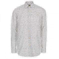 Paul Smith Men's Classic-Fit White 'Ants' Print Shirt