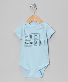 Take a look at this Light Blue 'Baby Genius' Bodysuit by American Classics on #zulily today!