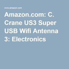 Amazon.com: C. Crane US3 Super USB Wifi Antenna 3: Electronics