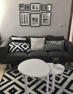 Salon con muebles de ikea