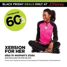 JCPenney Black Friday Deal: 60% off Xersion for her (also in women's sizes). Ready, set, go!