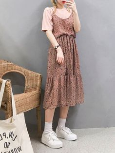 Korean Fashion – How to Dress up Korean Style – Designer Fashion Tips Indie Outfits, Punk Outfits, Korean Outfits, Grunge Outfits, Cute Fashion, Modest Fashion, Look Fashion, Girl Fashion, Fashion Models