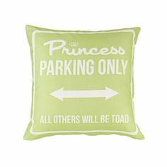 Princess Parking Only Small Verde by Carillon design