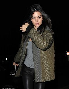 Fun never ends: Kendall Jenner carried on with the good times as she hit up the Chiltern Firehouse in London on Tuesday