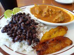 Rincon Cubano pork fricase with black bean, rice, cuban toast and plantains (8) (Medium)