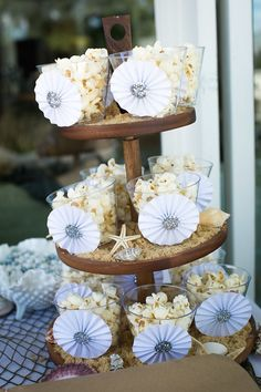 Popcorn Cups from a Modern Monochromatic Mermaid Party via Kara's Party Ideas KarasPartyIdeas.com (3)