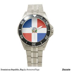 Dominican Republic, flag Wristwatches