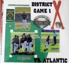 baseball scrapbook layout District game