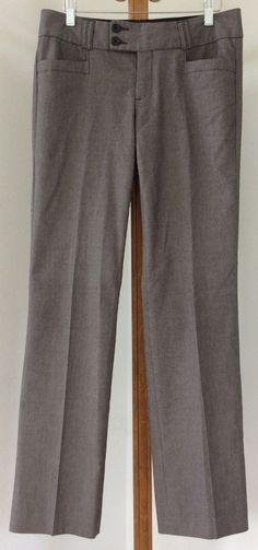 Banana Republic Dress Pants Brown Fully Lined Wool Blend Size 0 #BananaRepublic #DressPants