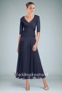 Beautiful A-line V-neck Ankle-length Dress - the Best Dresses Online Wholesaler and Retailer