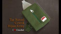Crochet || Tas Ransel Cowok - Sling Backpack For Men || Alternating Spik...