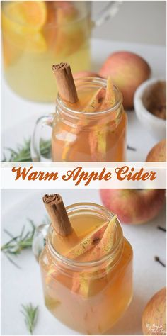 warm apple cider rec