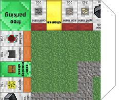Papercraft Minecraft Monopoly: with all the cards and money!
