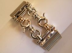 bracelet sterling silver 925 Combined with 9k gold closure, handmade ooak  $2,525.00