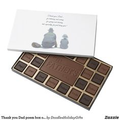 Thank you Dad poem box of chocolate