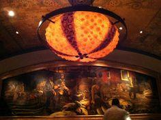 Farallon restaurant in San Francisco. Boast jelly fish pendants and sea urchin ceiling lamps!