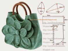 Sewing purses and bags quilts 34 ideas for 2019 Patchwork Bags, Quilted Bag, Bag Patterns To Sew, Sewing Patterns, Fabric Patterns, Bag Quilt, Diy Bags Purses, Diy Handbag, Denim Bag